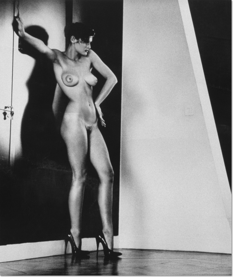 "Helmut Newton Sylvia, Vintage print, From the series ""Big Nudes"", this image of Sylvia was one of ten images chosen for the posters used to promote the ""Private Property"" series of exhibitions at Hamiltons Gallery in London, and Christian Cheneau Galerie in Paris in 1985."