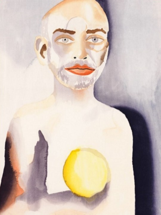 Francesco Clemente - Self-Portrait with Lemon Heart, 2008