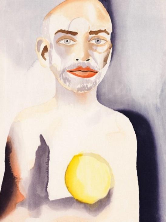 Francesco Clemente - Self-Portrait with Lemon Heart, 2008
