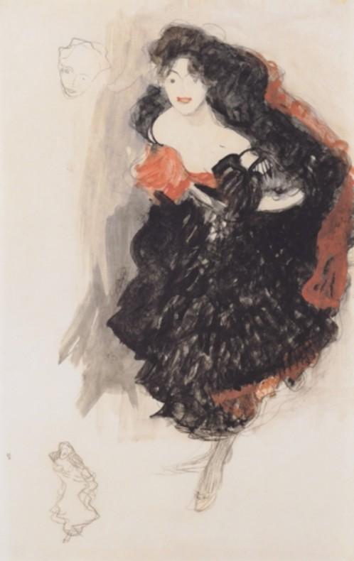Gustav Klimt Studie zu Judith II