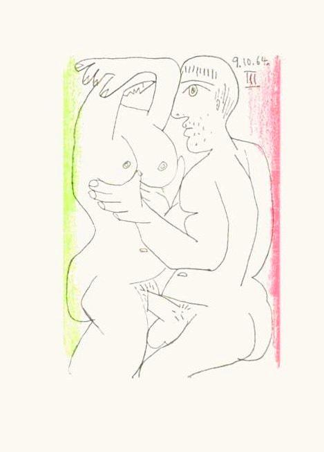 Pablo Picasso: Le Goût du Bonheur, 1964, für die Edition 'Le Goût du Bonheur - Trois Carnets d'Atelier', Picasso et Jean Marcenac, Edité par Paris: Éditions cercle d'Art, 1970