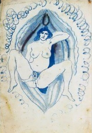 Pablo Picasso . Environnement vaginal, [Barcelona], 1902~1903, Museu Picasso, Barcelona