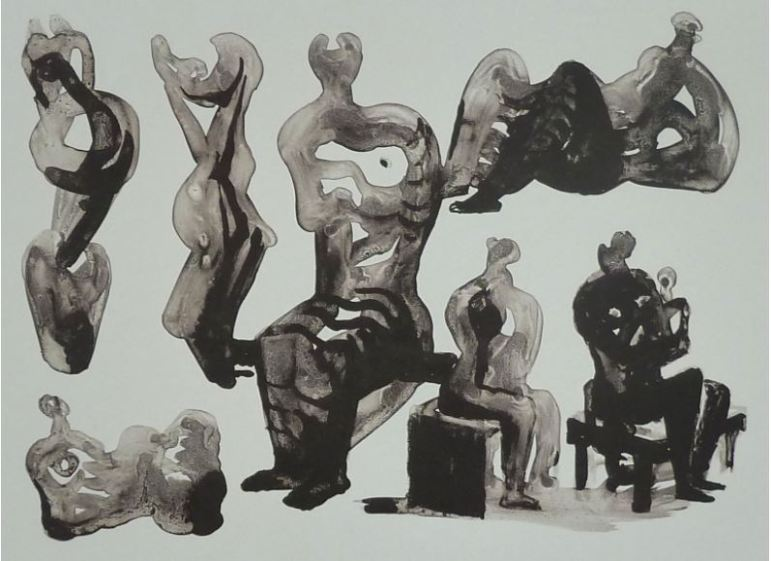 Henry Moore - Ideas for Sculptures, 1975, Farblithographie auf Velin