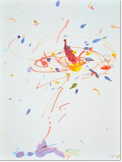 Rebecca Horn: 'Die Reise des Sufis', 2007, Giclée-Druck auf Karton, handsigniert, nummeriert en verso, Format: 31,9 x 23,9 cm, lim. Auflage 25 Exemplare.