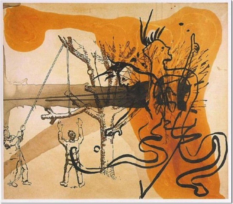 Sigmar Polke - Lackmus, 199, Offset lithograph on cardboard, 51,5 x 64,5 cm. on 75 x 55 cm., edition 75, signed, numbered, dated and titled