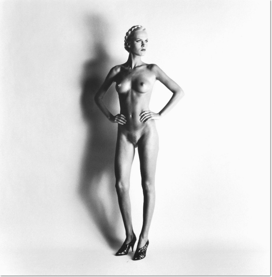 HELMUT NEWTON (1920-2004) Big Nude I: Lisa, Paris, 1981 gelatin silver print signed, titled, dated and numbered in pencil (on the verso) 19¼ x 19in. (48.9 x 48.2cm.