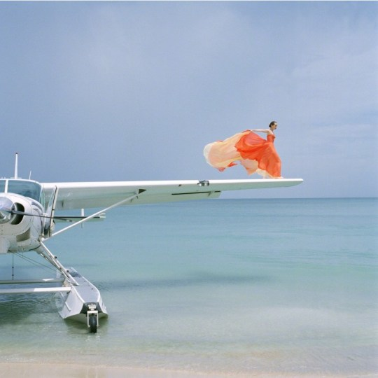 Rodney Smith, Saori on Sea Plane Wing, Dominican Republic, 2009 Archival pigment print