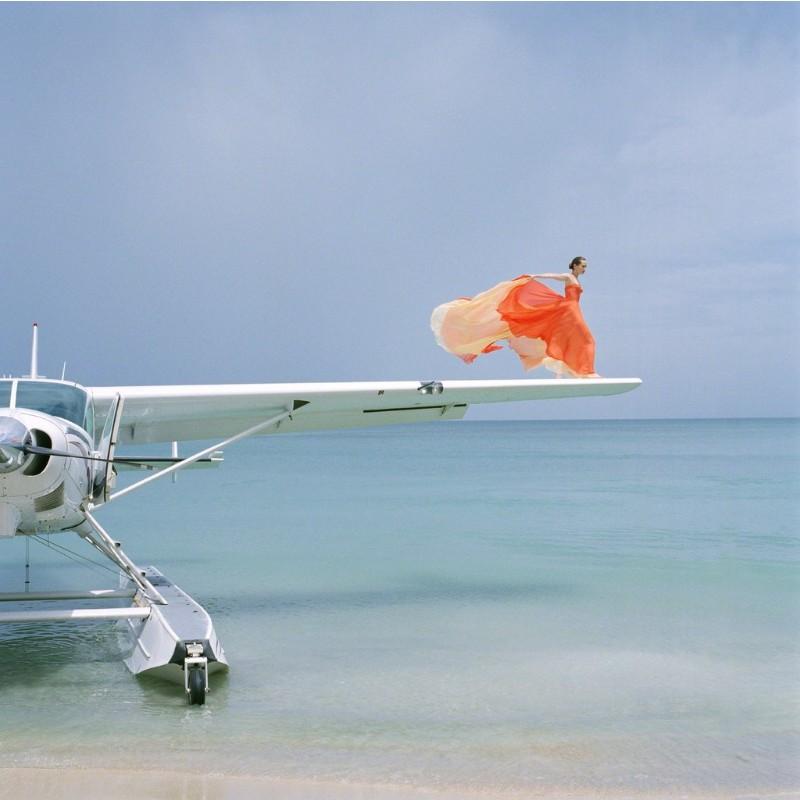 Rodney Smith, Saori on Sea Plane Wing, Dominican Republic, 2009 Archival pigment print