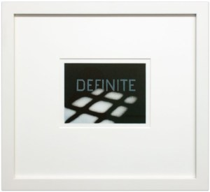 Ed Ruscha: 'Definite from the That is Right portfolio', 1989, Lithograph, numbered in lower left and initialed and dated lower right, edition of 30, image size: 5 x 6 7/8 inches (12.7 x 17.5 cm), paper size: 9 x 11 inches (22.9 x 28 cm)