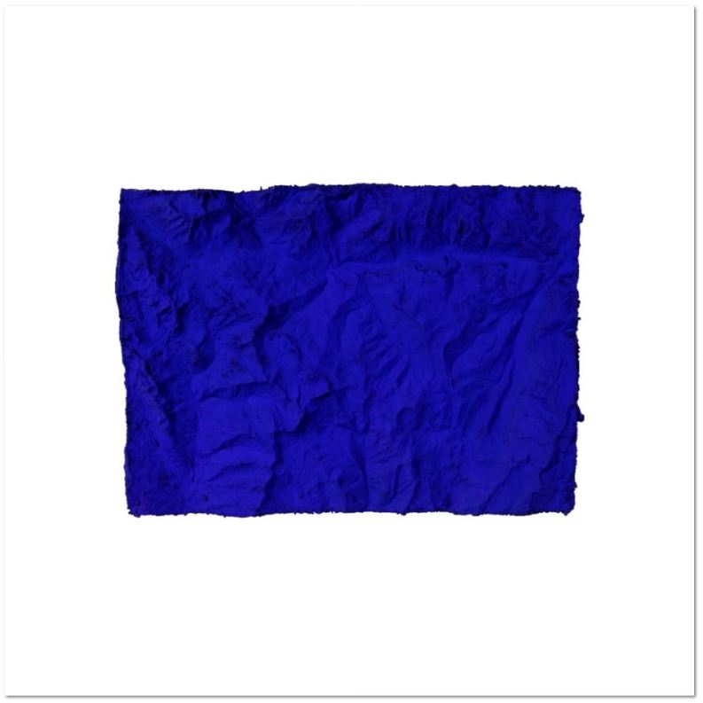 Yves Klein Relief planétaire bleu sans titre Inkjet printing, after an original from 1961 2015 76 x 101 cm Edition of 50 Certified by Archives Yves Klein