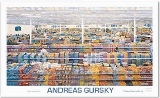 """Andreas Gursky: """"99 cent"""", 2001, Offsetprint, Official exhibition poster for the """"Retrospective Andreas Gursky 2001"""" in New York, it shows the motive """"99 cent"""", size: 142 x 86 cm"""