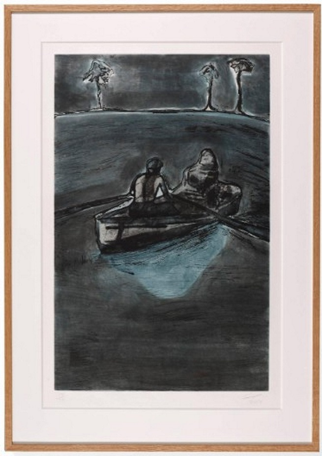 Peter Doig 1959 - to be titled, 2016 Edition of 30 signed, numbered and dated lower margin etching with gravure, spitbite 63.5 x 94.6 cm