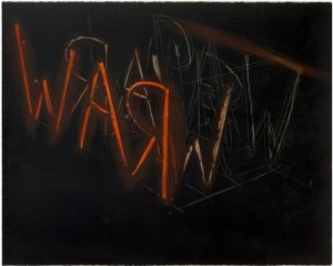 Bruce Nauman: 'Raw War', 1971, Lithograph printed in colours on Arches paper, signed and dated in pencil, numbered, edition of 100 (+ 10 artist's proofs), size: 70.5 x 91.4 cm
