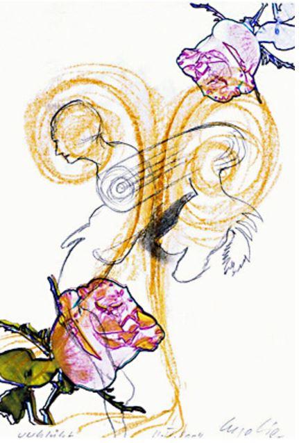 Ingo Lie: 'Verblüht', 2004, Handzeichnung (Unikat), signiert und datiert II.IV. Format: 29,8 x 21 cm