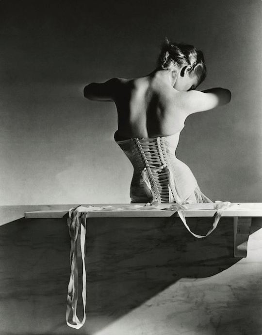 Horst P. Horst: Mainbocher Corset, Paris, 1939-printed later Gelatin silver print 17 4/5 × 13 1/2 in 45.1 × 34.3 cm