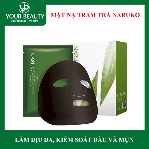 Mặt Nạ Tràm Trà Kiểm Soát Dầu, Mụn Naruko Tea Tree Shine Control & Blemish Clear Mask