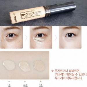 Kem Che Khuyết Điểm The Saem Cover Perfection Tip Concealer SPF28 PA++