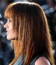 long haircuts with bangs