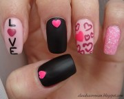 cute and cool valentine day nail