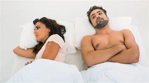 sexual performance anxiety couple in bed