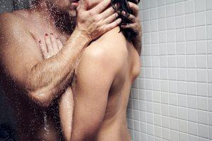 good kisser in shower
