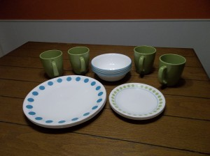 corelle dinnerware set expanded shown here.