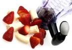 Blender with fruit