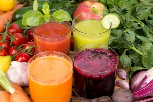 Pictured here is a variety of juices