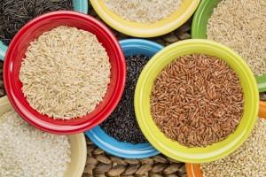 bowls of various rice