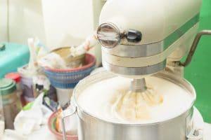 Dough mixer machine kneading the dough.