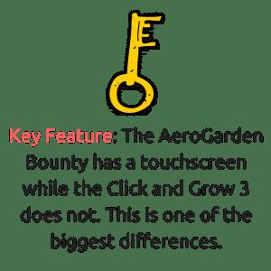 aerogarden has a touchscreen