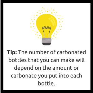 number of carbonated bottles will vary