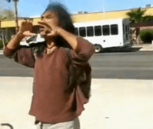 A Native American blasted anti-illegal immigration protestors during a rally in Tucson, AZ.