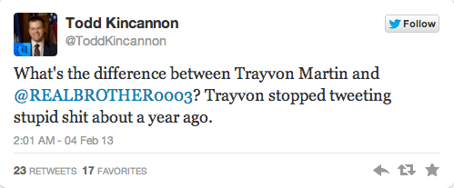 kincannon third racist tweet