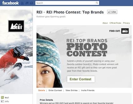 Facebook contest example