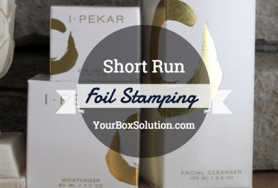Short Run Foil Stamping Custom Boxes
