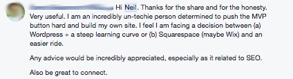 Facebook Group Comment