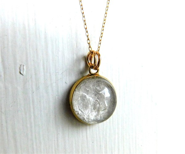 Gold Bubble Breast Milk Necklace Stainless