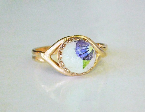 rose gold crown adjustable ring