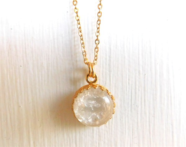 Gold Crown of the Queen Breast Milk Jewelry Necklace