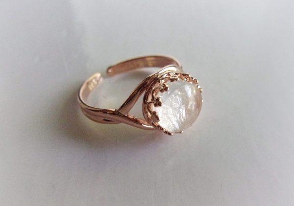 Rose Gold Crown Adjustable Breast Milk Ring