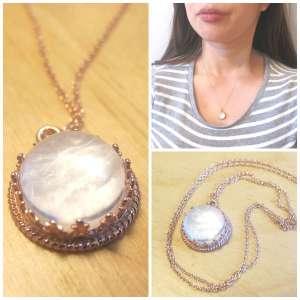 Lait de Rose Gold Breast Milk Crown Necklace 12mm