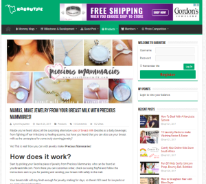 Precious Mammaries Breast Milk Jewelry Review from blogger kaboutjie