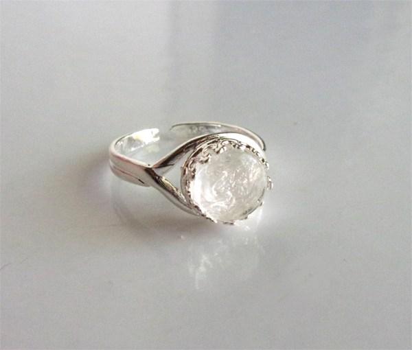 Breast Milk Ring Sterling Silver Adjustable Crown