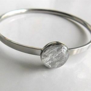 silver breastmilk bracelet