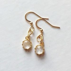 crown round earrings