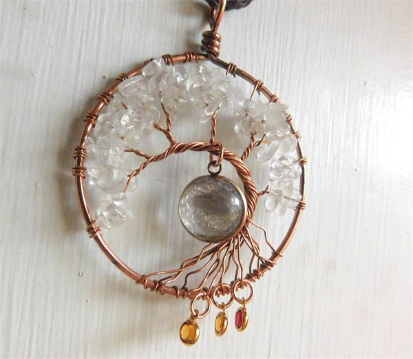 wire wrap rose gold tree of life breast milk necklace jewelry