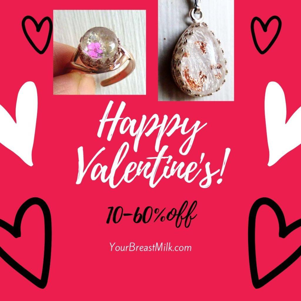 Valentine's Day Sale Breast Milk Jewelry