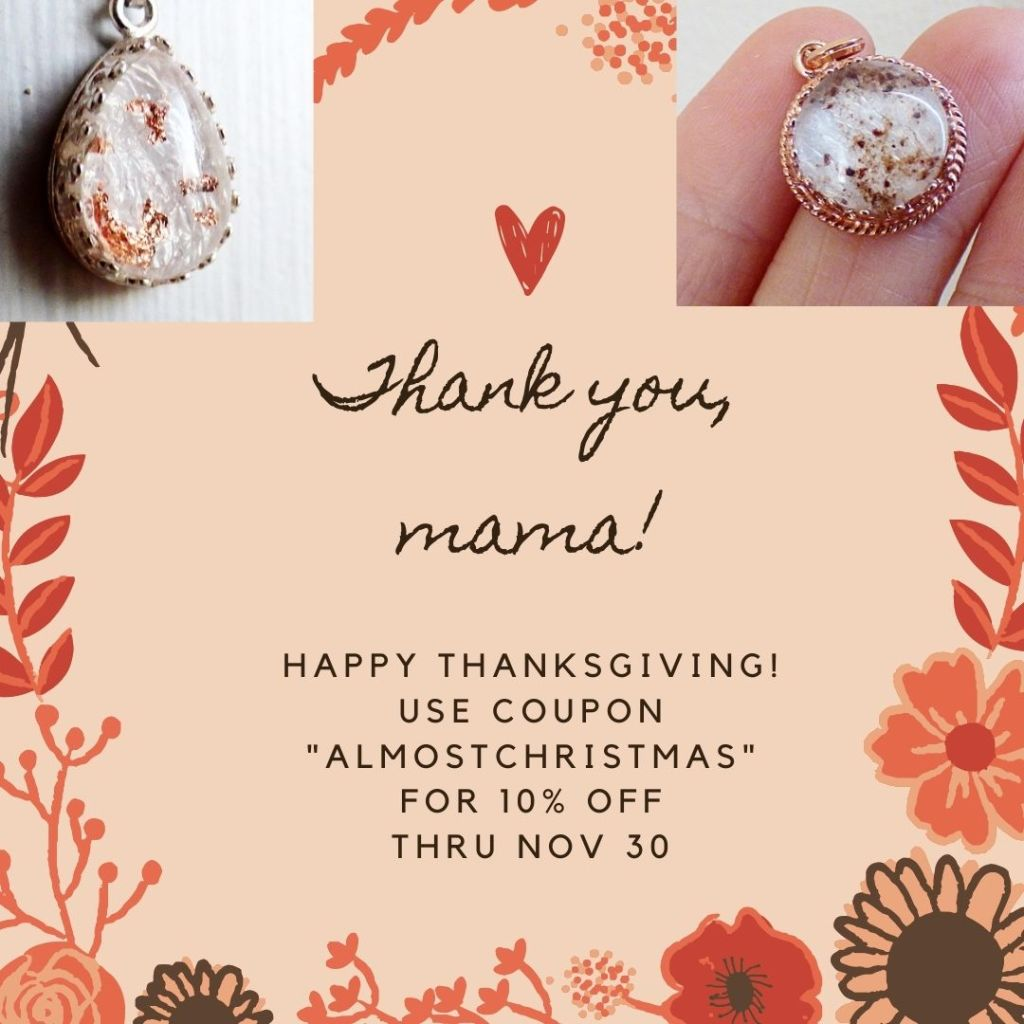 black friday cyber monday sale breastmilk jewelry coupon discount 2020 mom gift
