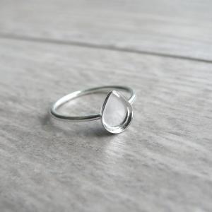 Classic Milk Drop Ring Sterling Silver Breast Milk Jewelry